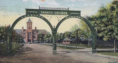 Postcard of the Trinity College Gates, 1906
