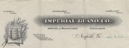 Imperial Guano Company Letterhead