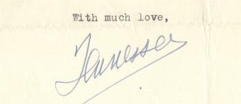 Tennessee Williams' signature