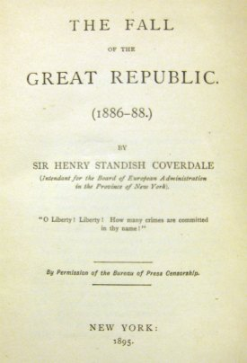 Title Page of The Fall of the Great Republic