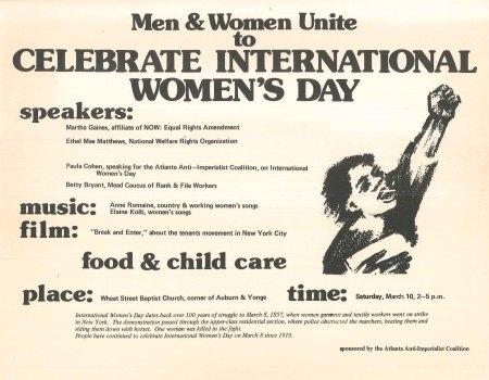 International Women's Day Flier, 1973