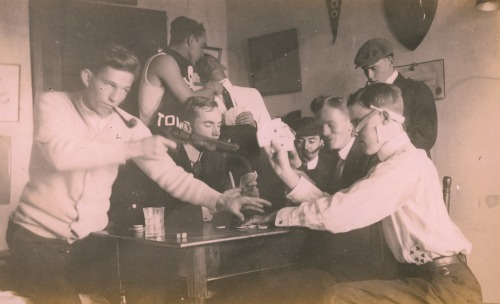Card Game Photo from Charles Bagley Scrapbook