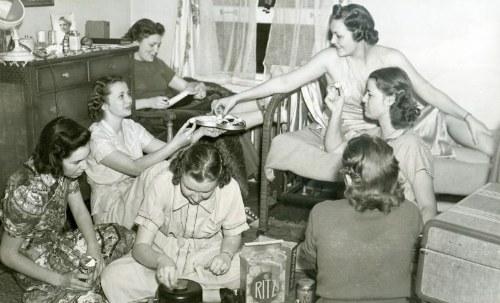 Dormitory Gab Session, 1940s