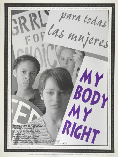"""My Body My Right,"" Girl Germs Poster"