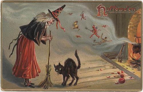 Halloween Postcard, 1908.