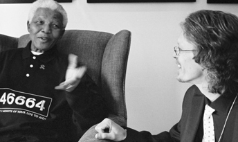 Nelson Mandela and Verne Harris
