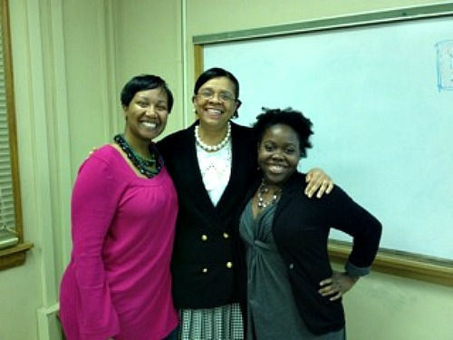 (L to R) Panelists Holly Smith, Dr. L. Teresa Church, and Jenn Thompson. Photo courtesy SCOSAA-UNC.