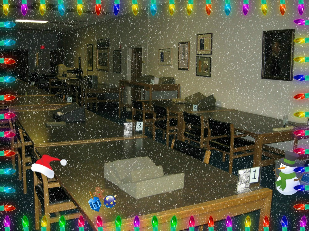 Reading Room is closed Dec. 23-Jan 2.