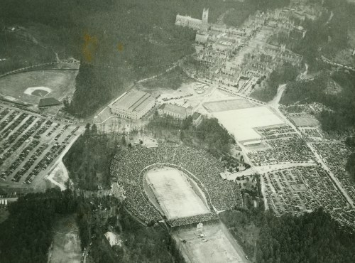 Aerial Photograph of Duke Stadium during 1942 Rose Bowl