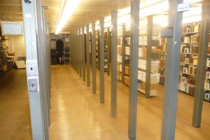 Stacks with shelving removed