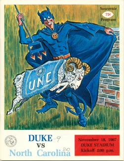 Football Game Program Cover, Duke vs. UNC, 1967