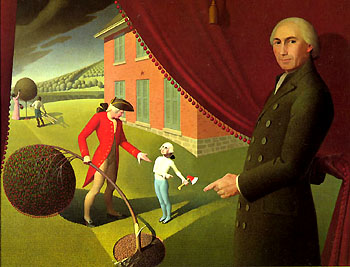 Parson Weems' Fable, by Grant Wood