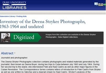 Deena Stryker Finding Aid