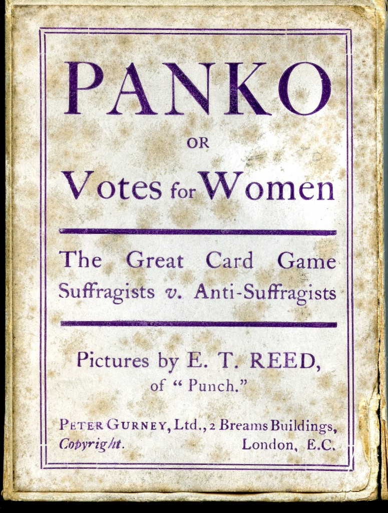 Box cover for Panko, or, Votes for Women: The Great Card Game