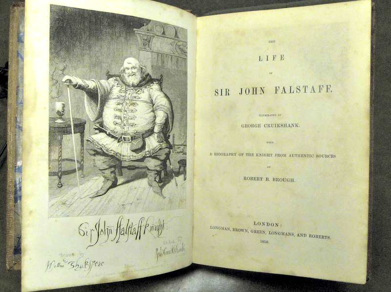 Robert Brough's The Life of Sir John Falstaff: A Biography of the Knight from Authentic Sources of 1858
