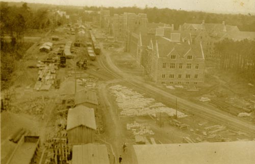 View of West Campus Construction, 1929