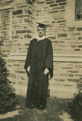 Charles Wesley Clay at Commencement, 1929