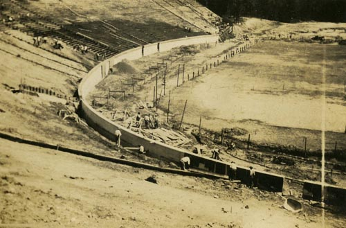 Construction of Duke Stadium, 1929