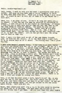 Eden's letter