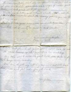 Mary Ann Eden's letter (dated August 6, 1945)