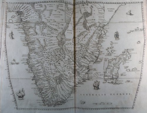 Map of southern Africa, from Livio Sanuto, Geografia (1588).