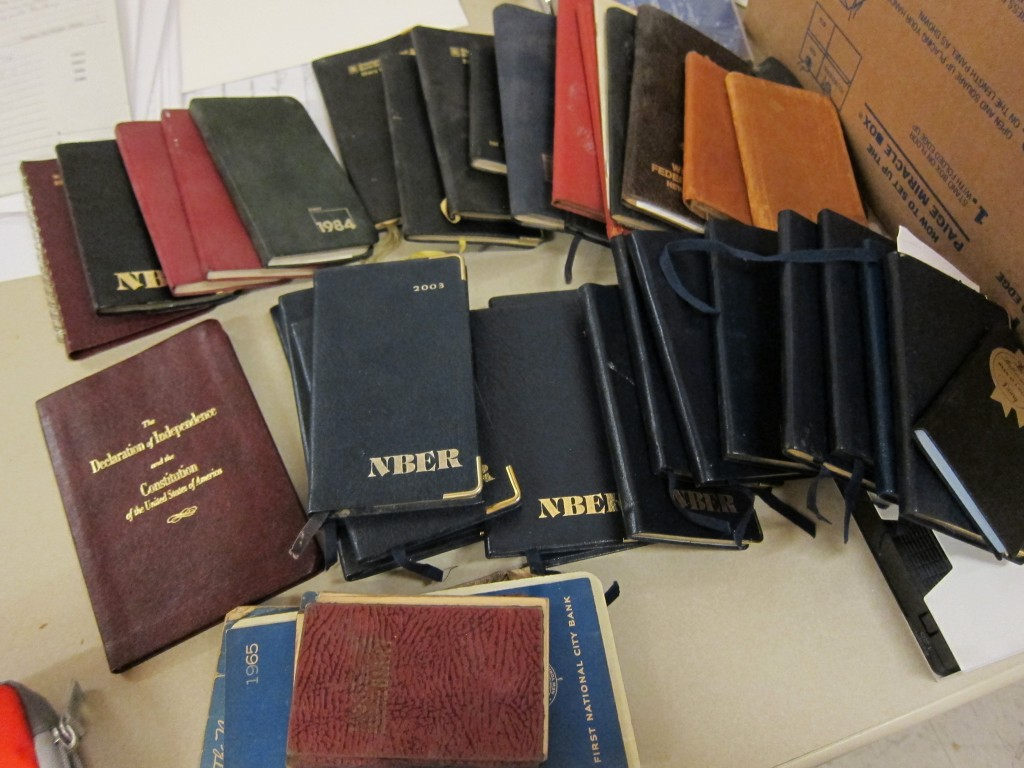 Dozens of datebooks from the Anna Schwartz Papers
