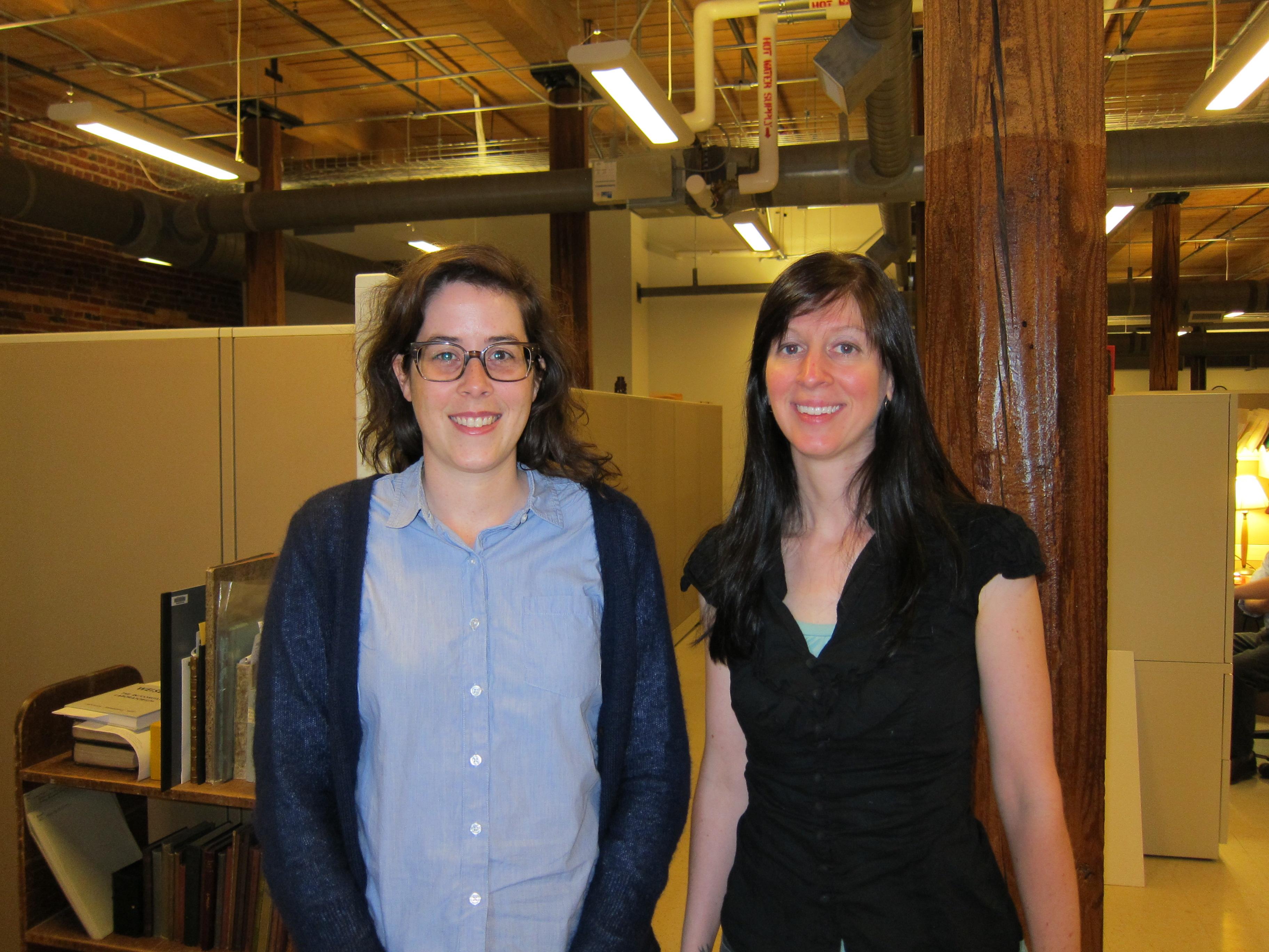 New Tech Services Staff: Lauren Reno and Rachel Penniman