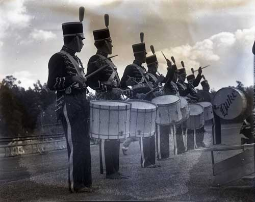 Duke University Marching Band Drum Line, October 21, 1939