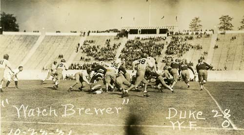 Duke vs. Wake Forest, October 1931