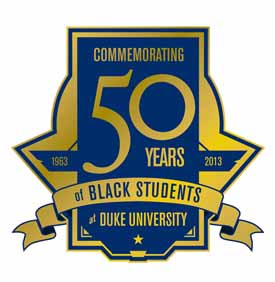 Logo for the Commemoration of 50 Years of Black Students at Duke University