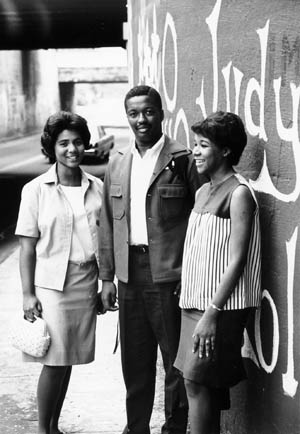 Wilhelmina Reuben-Cooke, Nathaniel White, Jr., and Mary Mitchell Harris, the first African-American undergraduates to receive degrees from Duke University.