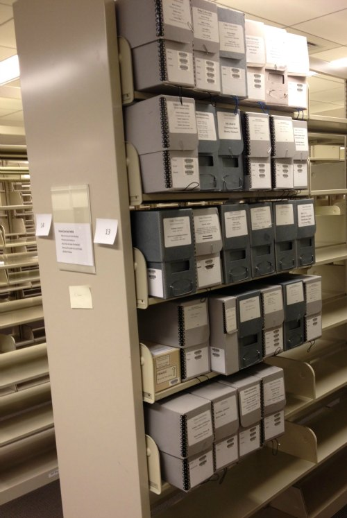 The first manuscript boxes moved into our new stacks.