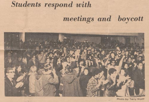Photos from <i>The Chronicle</i>, February 16, 1969.