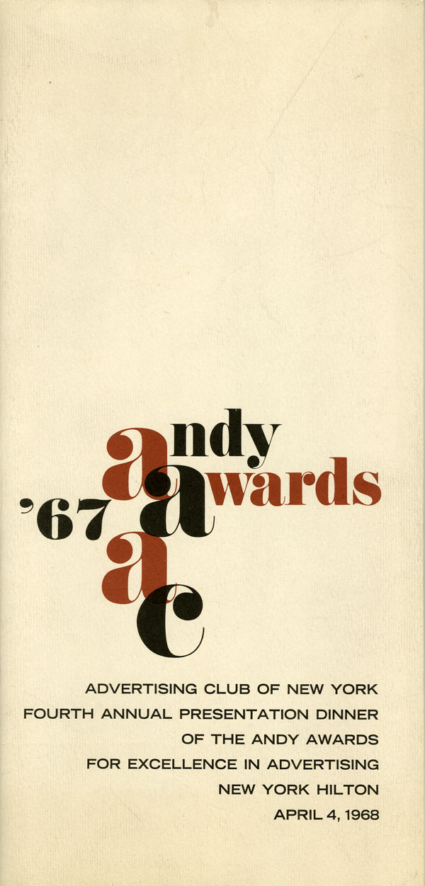 Andy Awards cover - Blog