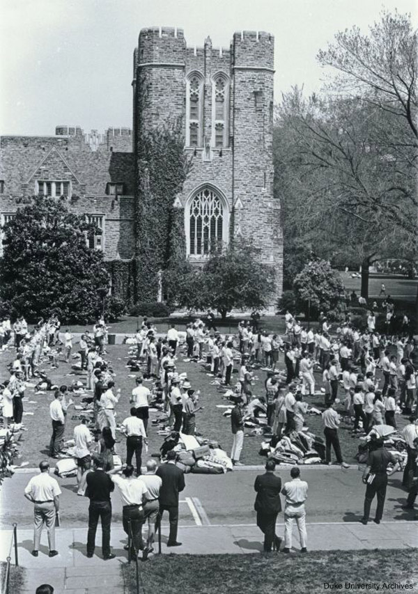 Duke Vigil, April 5-11, 1968.  Duke University Archives, University Archives Photograph Collection, box 54.