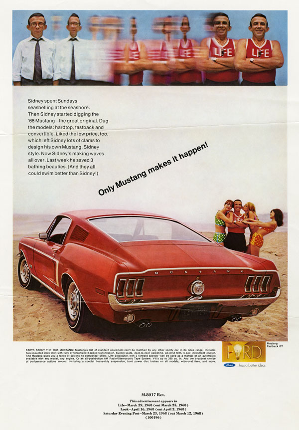 Advertisement for Ford Mustang