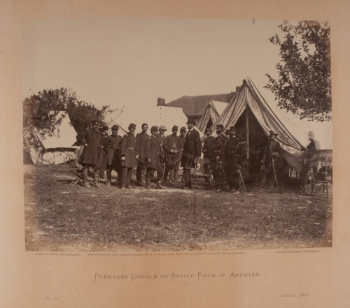 "Alexander Gardner, ""President Lincoln on Battle-Field of Antietam,"" 1862."