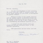 Letter, Patricia Nixon to Elna Spaulding, June 30, 1969. From the Women-In-Action for the Prevention of Violence and Its Causes Records.