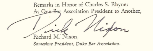 Richard Nixon Signature