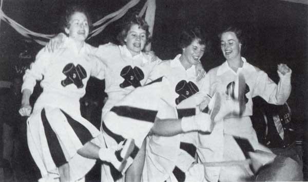 Four Duke University Cheerleaders
