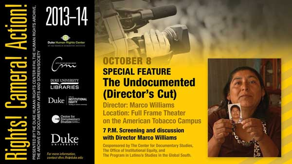 Poster for Screening of The Undocumented