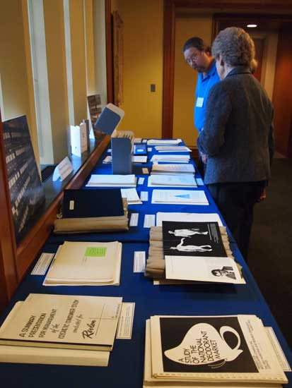 A display of materials from the Alvin Achenbaum Papers.