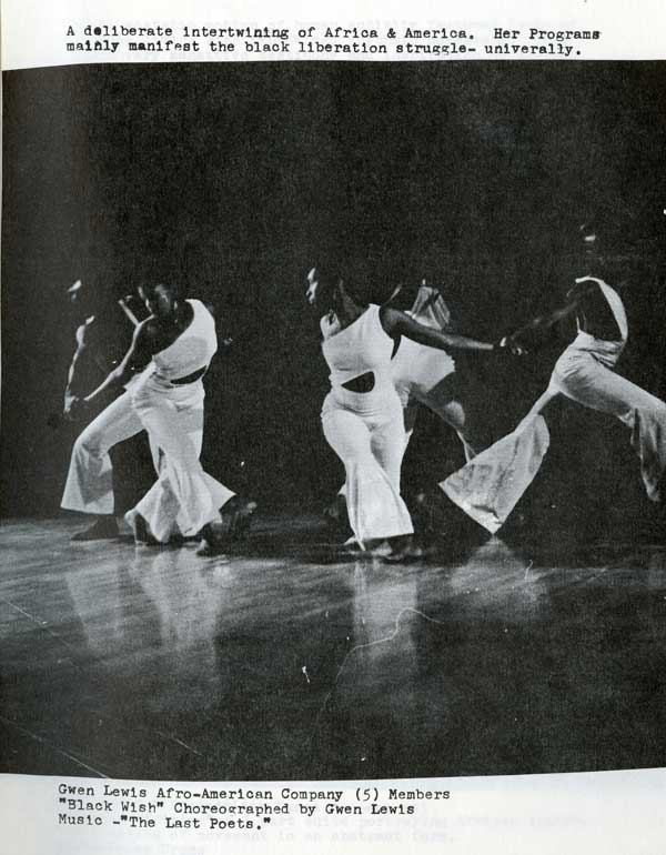 The Gwen Lewis Afro-American Company, a dance company in Oakland, was part of a flourishing black arts movement in the 1970s that saw reclaiming African heritage as part of the liberation struggle.