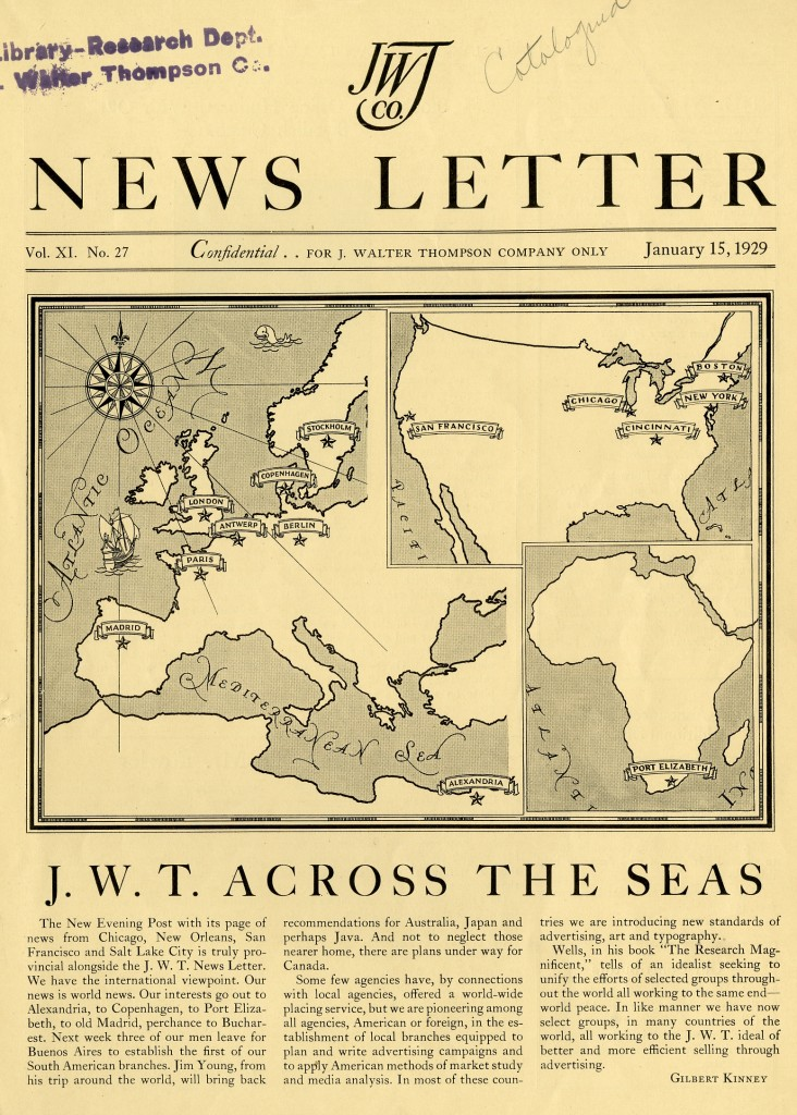 """JWT Across the Seas,""  January 15, 1929"