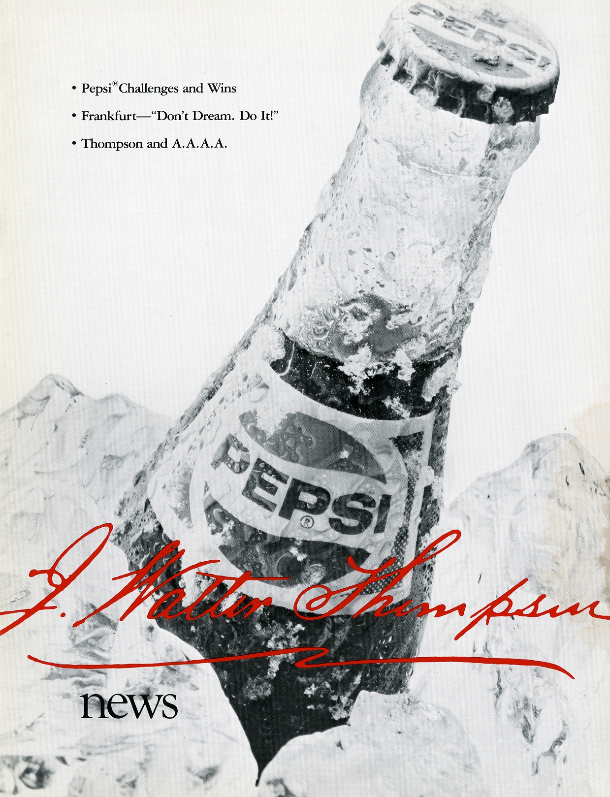 """Pepsi Challenges and Wins,"" Fall 1982."