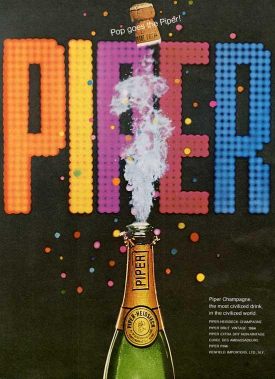 Piper Champagne Ad