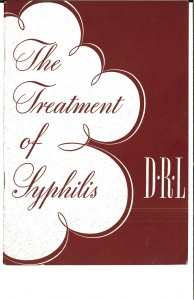 treatment of syphilis