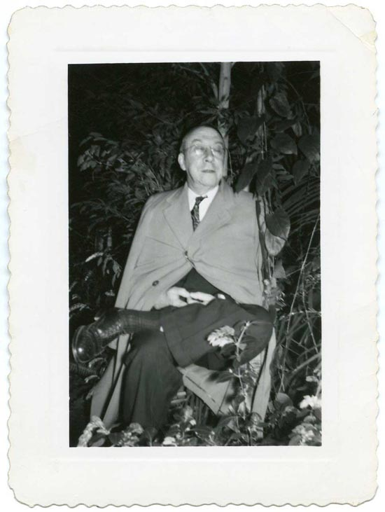 Professor James Cannon beneath the Bo tree, March 6, 1951.