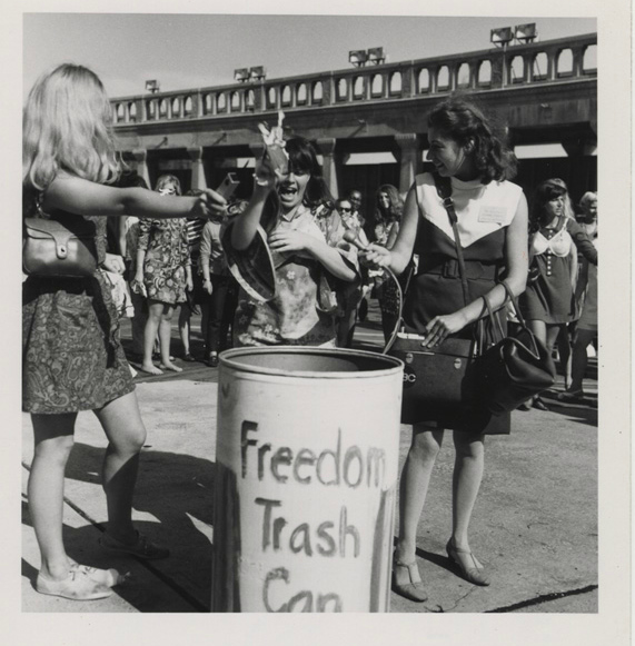 Protest, Miss America contest, 1968. Photo by Alix Kates Shulman; used with permission.