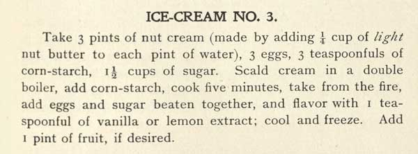 Recipe for Ice Cream No. 3